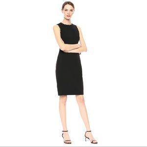 Calvin Klein Sleeveless Sheath Lace Trim Dress NWT